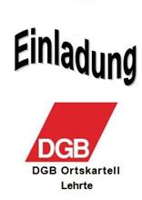 Einladung zur Information - Logo: DGB