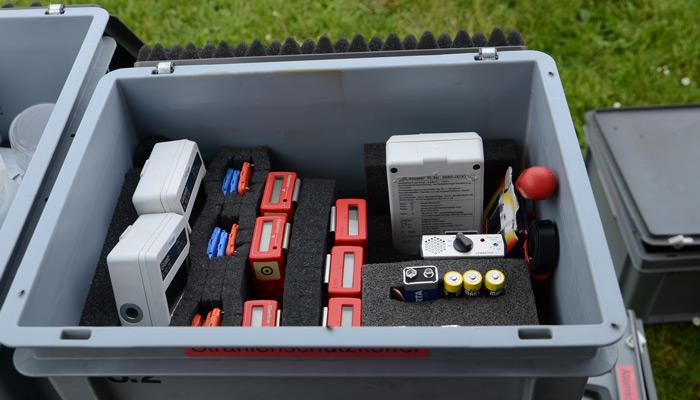 Mit der Spezialausrüstung des GW-Mess können Gasreste aufgespürt werden - Foto: JPH