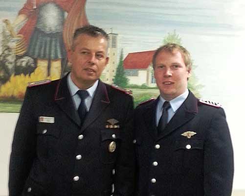 Die Feuerwehr Sehnde hat gewählt: Ab 1.5. stehen Sven Grabbe (li.) und Fabian Lehrke an der Spitze - Foto: Privat