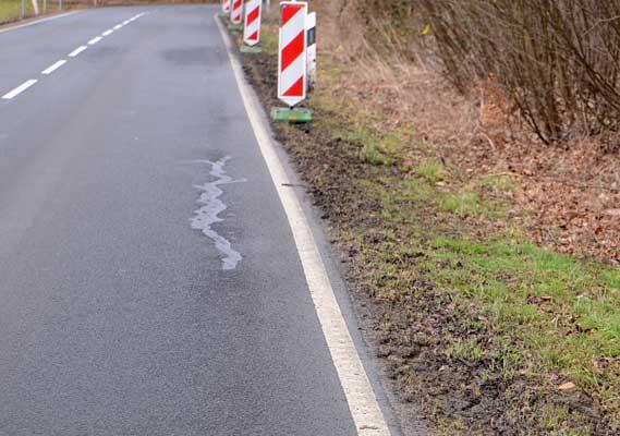Der kleine Krötengraben und der Zaun werden nicht mehr aufgestellt hier - Foto: JPH