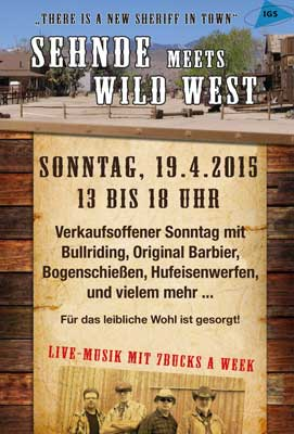 IGS Sehnde lädt zum Wild West Festival in die City ein - Plakat: IGS