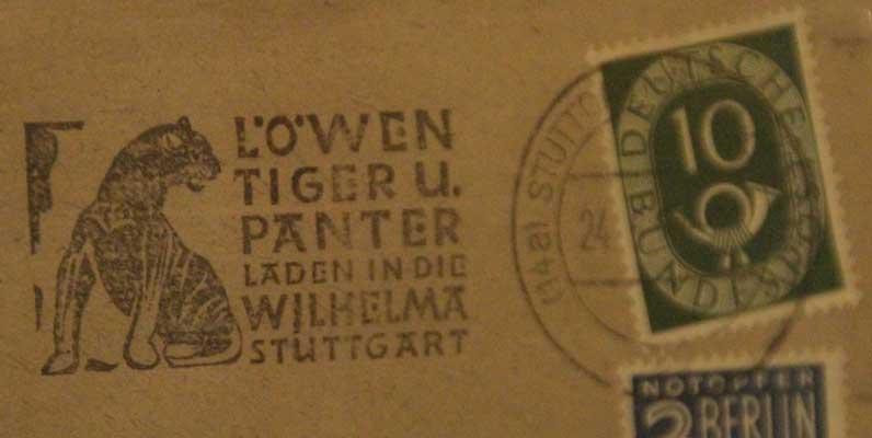Auch die Stempel waren 1953 vor Schreibfehlern nicht gefeit - Foto: Zoo Hannover