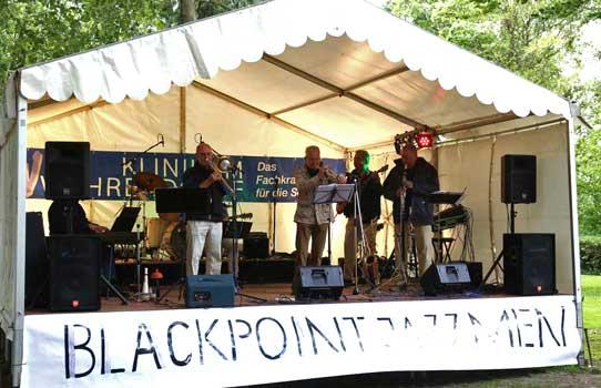 """Musikalische Unterhaltung gab es den vergangenen Sonntag von der """"Blackpoint Jazz Men"""" Gruppe – Foto: LAK"""