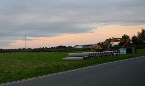 Der Bau der Stichstraße hat bereits begonnen - Foto: JPH