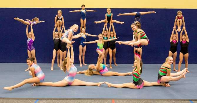MTV Iltens Sportakrobatinnen beeindrucken bei jedem ihrer Auftritte – Foto: LAK