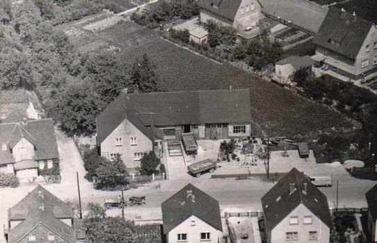 Die Alte Schmiede aus der Luft betrachtet - Foto: B. Thomas