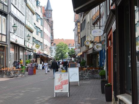 Erstmals ist in der ALtstadt Hanovers eine Hochzeitsgasse - Foto: JPH