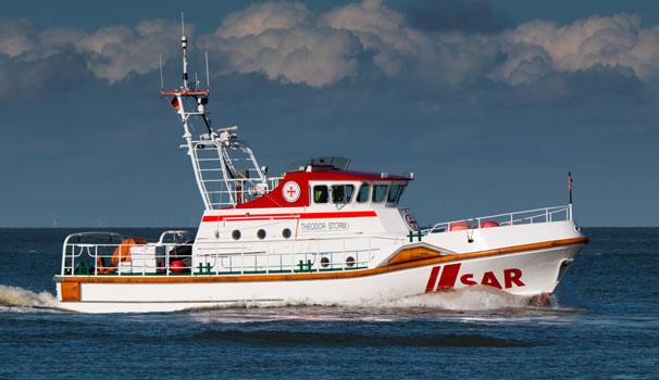 Seenotrettungskreuzer Theodor Storm aus Büsum war mit dem Tochterboot im Einsatz – Foto: Eike Henning