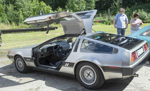 Mit dem DeLorean auf Zeitreise in Wehmingen - Foto: LAK