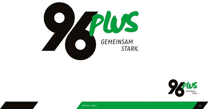 Das neue Logo von 96plus - Logo: Hannover 96 GmbH & Co. KGaA